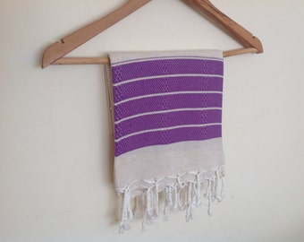 Christmas gift , Premium Turkish Towel, Peshtemal, Bath and Beauty, Bath and Body,Bride gift, Wedding, Natural Linen , lilac