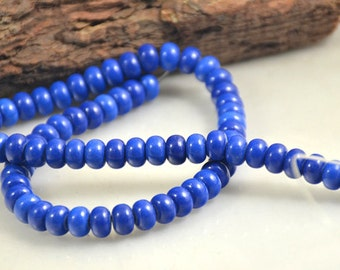 "Blue Lapis Strand Rondelle Blue Lapis Beads 10mmx6mm 8mmx5mm 6mmx3mm stone gemstone bead Full One strand 15.5"""