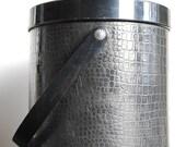 Vintage Black Crocodile Ice Bucket