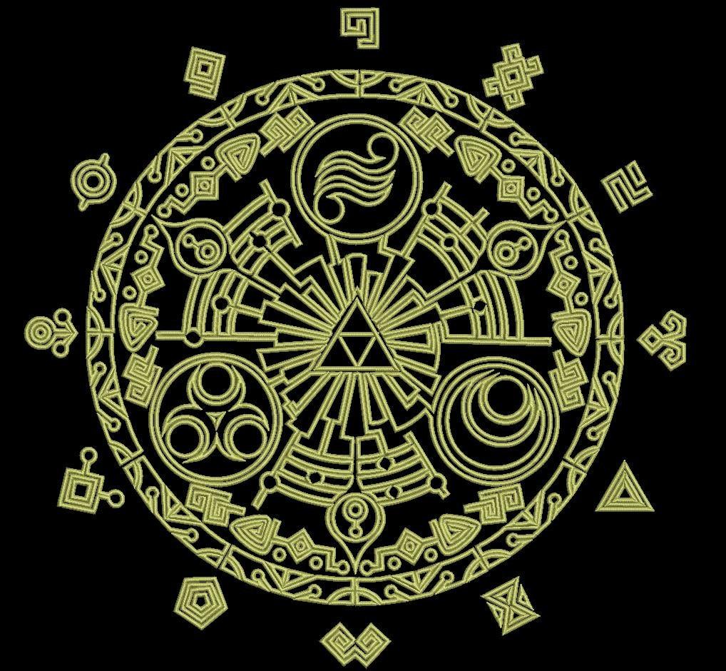 Legend Of Zelda Gate Of Time Machine Embroidery Design