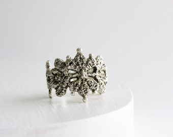 Silver Lace Ring-Style 15