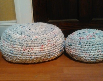 Set of Crocheted Plarn Foot Rests