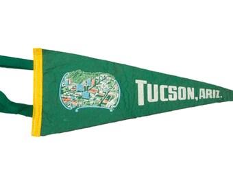 Vintage Tucson, Arizona Felt Flag Banner