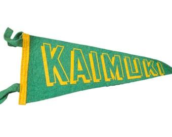 Vintage Kaimuki Hawaii Felt Flag Banner