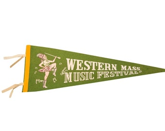 DISCOUNTED Western Mass Music Festival Felt Flag