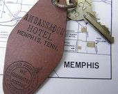 Vintage Ambassador Hotel Memphis Tenn. Hotel Room Key and Fob #321
