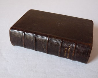 Antique French Religious Books - young girl prayer book - beautiful leather french book Roman Parishioner