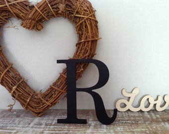 """Painted Wooden Letter - 'R' - Any Colour,  Roman Style - 18"""", Wall letter, various colours, other sizes"""