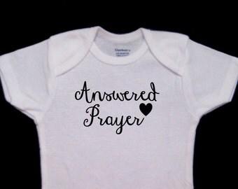 Answered Prayer Sweet Cute Baby Onesie Bodysuit