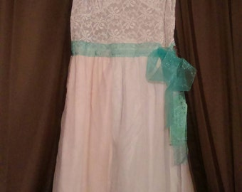 Upcycled slip dress