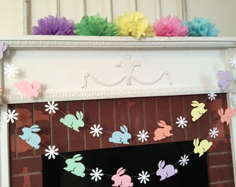 Easter Decorations - Easter SPRING garland - Bunny Garland - Easter Banner - Spring Banner