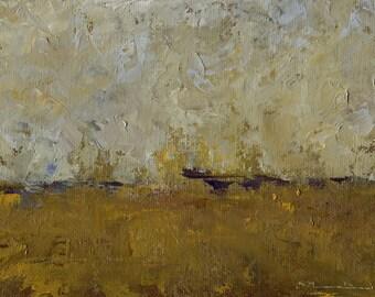 Original Landscape Painting by John Shanabrook - 5 x 7 - Prairie Track