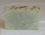 ON SALE Clearance Eucalyptus Mint Green Zeolite Clay with Silk Luxury Cold Process Rustic Soap