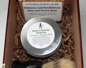 Oakmoss and Sandalwood Cigar Box Deluxe Shave/Shaving Set Kit - LaFlor Dominicana
