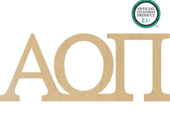 Alpha Omicron Pi Greek Letters Connected - Sorority Letters, Alpha Omicron Pi Letters, Alpha Greek Letters, Omicron Greek Letters