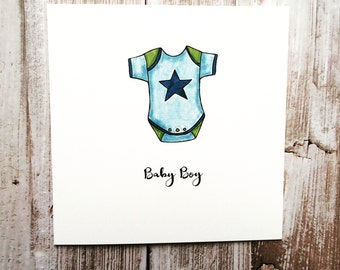 Baby Boy Vest Greeting Card