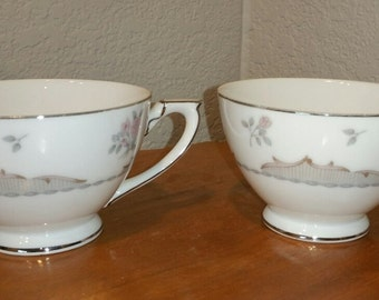 Two Vintage Dorchester Mikado China Teacups, Made in Japan
