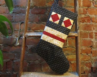 SALE - Accidental Robot Christmas Stocking - ooak