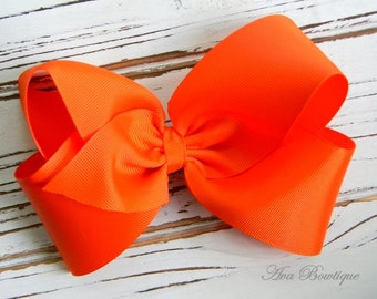 Orange Boutique Hair Bow - Extra Large Orange Hair Bow - Extra Large Boutique Bow - Extra Large Orange Bow