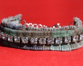 Bracelet - Vintage Rhinestones and Recycled/Upcycled Army Camo - Army Wives