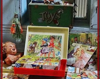 Vintage Play Blocks, Childs Puzzle Bocks, Vintage Toys, Illustrator Lungers Hausen, West Germany, Vintage Nursery Toys, Toy Collectors