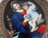 Vintage Madonna Child  Hamilton Collector's Plate Virgin of the Grape By Pierre Mignard 1993 w/ COA