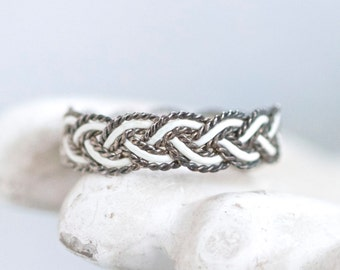Plated Band Ring - Size 9 - white Ring