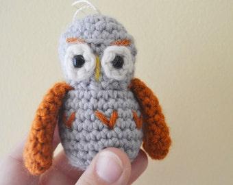 Olive the Owl Ornament Crochet Amigurumi Christmas Holiday
