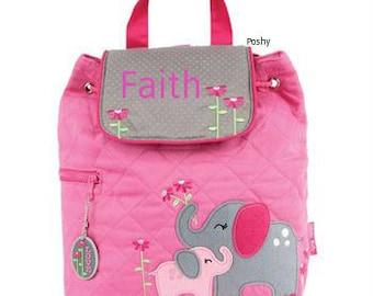 Personalized Girls Diaper Bag or Backpack Stephen Joseph Elephant