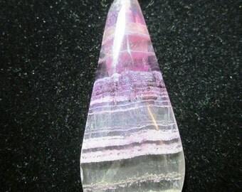 Fluorite Pendant silver bail 87ct