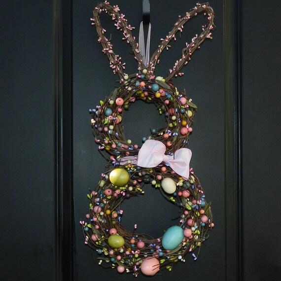 Easter Wreath - Bunny Wreath - Spring Wreath -  Easter Decoration-