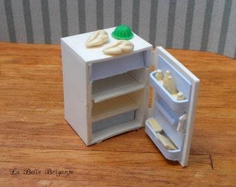 Vintage dollhouse miniature refrigerator