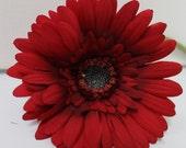 Red Silk Daisy / Silk Floral / Silk Flowers / DIY Hair Flowers / Artificial Flowers / Fake Crafting Flowers / Red Silk Flower / DIY Wedding
