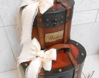 Wedding Card Trunks / Rustic Card Trunk / Wedding Wishes Trunk / Wedding Card Holder / Brown Wedding Trunks / Wedding Decorations