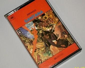 1970s Music Cassette Tape: Abraxas by Santana.