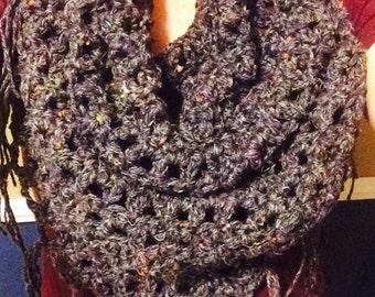 Fringe triangle scarf