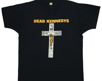 Dead Kennedys Shirt Vintage tshirt Rare 1980s In God We Trust tee band Punk rock Original 80s
