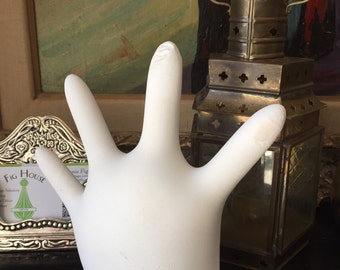 Hand. Mano. Hand mold. Door stop. Whimsical paper weight.