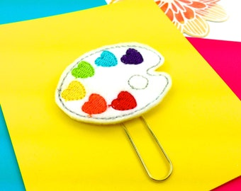 Artist Palette Planner Paper Clip or Magnet   Felt Bookmark Journal Marker   Novelty Paper Clips - Party Favor ideas. Artists Gifts Magnets