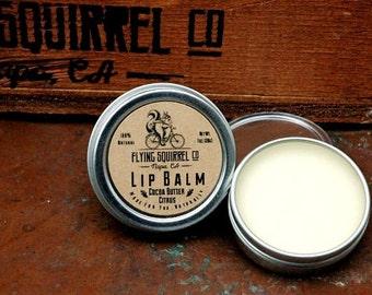 Natural Lip Balm, Cocoa Butter Citrus 1 oz.  - Item# LIP_CBCIT_01