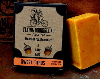 2-Pack Sweet Citrus Natural Soap - Item# CPS_SWTCT_01