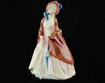 Vintage Royal Doulton 'Pretty Ladies' Figurine - 'Paisley Shawl' HN 1988