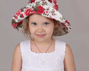 FREE SHIPPING Girls hat summer hat for baby toddler girl sun hat baby hat for summer baby panama baby sun hat baby summer hat baby hat