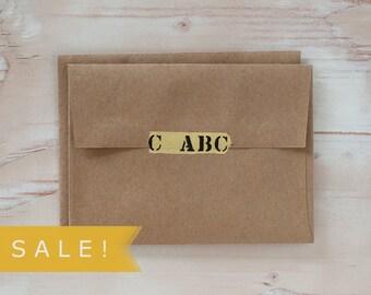 Brown Kraft Envelopes - A6 - Square Flap - 25 pc - SALE!