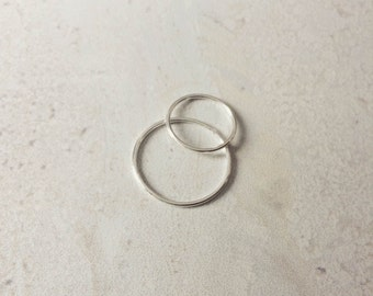 Stackable Sterling Silver Ring (Slim)