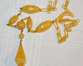 Art Deco Celluloid Necklace Vintage Flapper Era 1930s Fabulous Condition