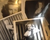 Vintage Black and White Photo Instant Collection - Vintage Woman Subject Photography for Collecting or Supply - Paper Ephemera