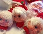 Vintage Santa and Mrs. Claus HEADS Supply