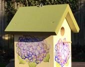 Blue Hydrangea Bird House