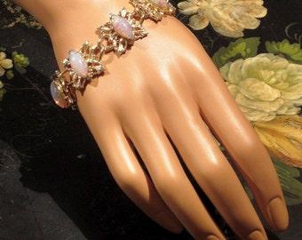 Vintage 1960's Bracelet Faux Opals